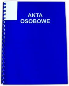 Teczka do akt osobowych Interdruk, A4, 350g/m2, niebieski
