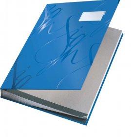 Teczka do podpisu Leitz, A4, 18 kartek, niebieski