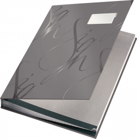 Teczka do podpisu Leitz, A4, 18 kartek, szary
