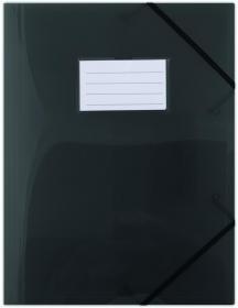 Teczka plastikowa z narożną gumką Donau, A4, czarny