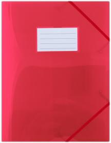 Teczka plastikowa z narożną gumką Donau, A4, czerwony