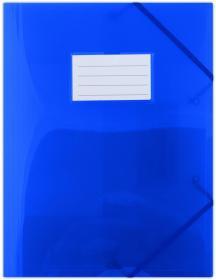 Teczka plastikowa z narożną gumką Donau, A4, niebieski