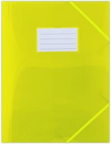 Teczka plastikowa z narożną gumką Donau, A4, żółty