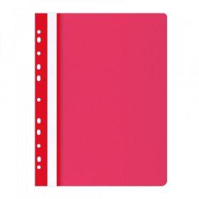 Skoroszyt plastikowy oczkowy Office Products, A4, do 200 kartek, czerwony