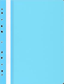 Skoroszyt plastikowy Office Products, A4, do 200 kartek, oczkowy jasnoniebieski