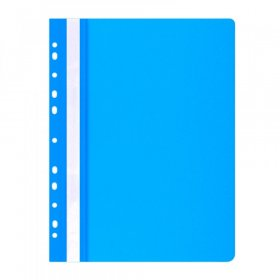 Skoroszyt plastikowy oczkowy Office Products, A4, do 200 kartek, niebieski