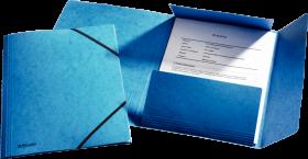 Teczka preszpanowa z narożną gumką Esselte, A4, 330g/m2, 4mm, niebieski
