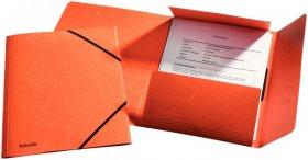 Teczka kartonowa z narożną gumką Esselte, A4, 390g, pomarańczowy