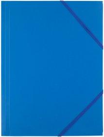 Teczka plastikowa z gumką D.Rect, A4, 40mm, niebieski