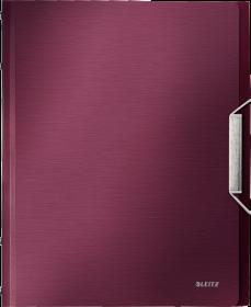 Teczka segregująca Leitz Style, A4, 12 przekładek, rubinowy czerwony