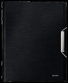 Teczka segregująca Leitz Style, A4, 6 przegródek, grzbiet 17mm, satynowa czerń