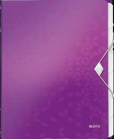 Teczka segregująca Leitz Wow, A4, 6 przegródek, fioletowy