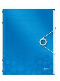 Teczka segregująca Leitz Wow, A4, 6 przegródek, niebieski