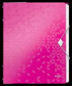 Teczka segregująca Leitz Wow, A4, 6 przegródek, różowy
