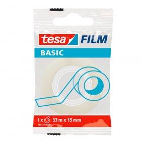 Taśma biurowa Tesa Basic, 15mm x 33m, przezroczysty