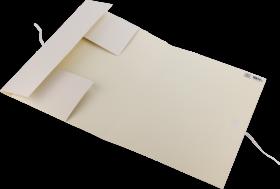 Teczka wiązana Leniar, A3, kartonowa, biały