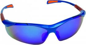 Okulary ochronne Ispector Nellore, filtr UV, lustrzany niebieski