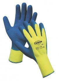Rękawice ciepłochronne Cerva Bluetail żółto-niebieskie 10