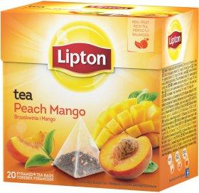 Herbata czarna smakowa w piramidkach Lipton, brzoskwinia z mango, 20 sztuk x 1.2g