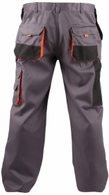 Spodnie Fridrich&Fridrich Chris, gramatura 235g, rozmiar 50, szaro-pomarańczowy