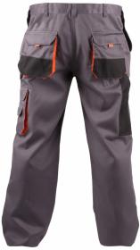 Spodnie Fridrich&Fridrich Chris, rozmiar 56, szaro-pomarańczowy
