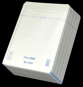 Koperta bąbelkowa, NC, H/18, 290x370mm, 10 sztuk, biały