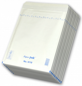 Koperta bąbelkowa NC, H/18, 290x370mm, 10 sztuk, biały