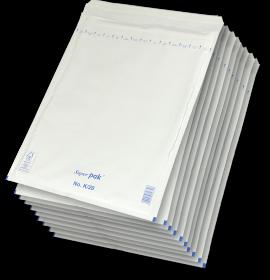 Koperta bąbelkowa NC, K/20, 370x480mm, 10 sztuk, biały