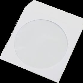 Koperta na płyty CD NC, klejona na mokro, z oknem, 1000 sztuk, biały