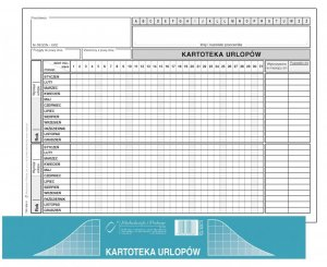 Druk akcydensowy Kartoteka Urlopów MiP, A5, offsetowy, 20k