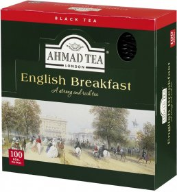 Herbata czarna w kopertach Ahmad English Breakfast, 100 sztuk x 2g