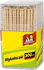 Wykałaczki drewniane w pudełku Jan Niezbędny, 300 sztuk, beżowy