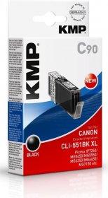 Tusz KMP CLI-551BK XL, 15ml, czarny