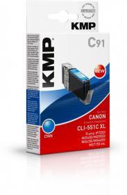 Tusz KMP CLI-551C XL, 15ml, cyan
