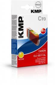 Tusz KMP CLI-551Y XL, 15ml, yellow