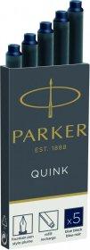 Naboje do pióra wiecznego Parker, długie, 5 sztuk, granatowy