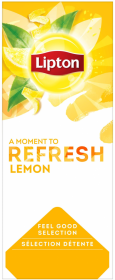 Herbata czarna aromatyzowana w kopertach Lipton Classic, lemon, 25 sztuk x 1.6g
