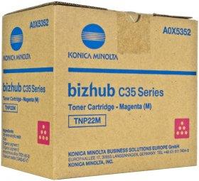 Toner Konica Minolta A0X5352 (TNP-22M), 6000 stron, magenta (purpurowy)