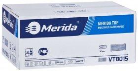 Ręcznik papierowy Merida, dwuwarstwowy, 20 opakowań po 160 składek, biały
