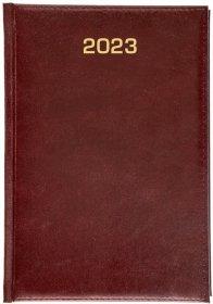 Kalendarz książkowy Udziałowiec 2018, Dyrektorski, A5, dzienny, 160 kartek, bordowy