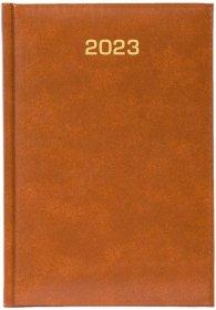 Kalendarz książkowy Udziałowiec 2022, Dyrektorski, A5, dzienny, 160 kartek brązowy