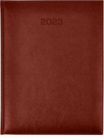 Kalendarz książkowy Udziałowiec 2018, Nebraska, A5, dzienny, 176 kartek, brązowy