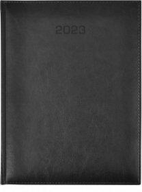Kalendarz książkowy Udziałowiec 2018, Nebraska, A5, dzienny, 176 kartek, czarny