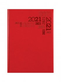 Kalendarz książkowy Udziałowiec 2020, Lux, A5, dzienny czerwony A