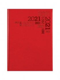 Kalendarz książkowy Udziałowiec 2019, Lux, A5, dzienny, wzór A, 176 kartek, czerwony