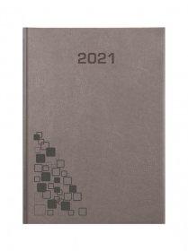 Kalendarz książkowy Udziałowiec 2019, Lux, A5, dzienny, szary