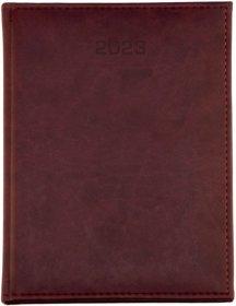 Kalendarz książkowy Udziałowiec 2020, Nebraska, A4, tygodniowy, 80 kartek bordowy D
