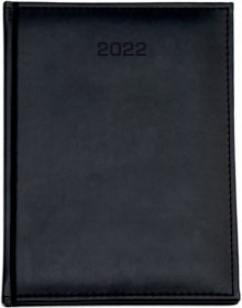 Kalendarz książkowy Udziałowiec 2019, Nebraska, A4, tygodniowy, 160 kartek, czarny E
