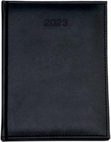 Kalendarz książkowy Udziałowiec 2018, Nebraska, A4, tygodniowy, 160 kartek, czarny E