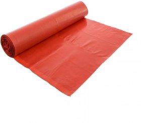 Worki na śmieci z grubej folii LD, 120L, 10 sztuk, czerwony